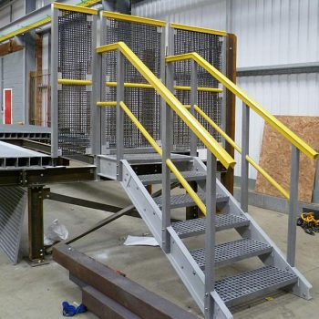 GRP Railway Systems Gated Access Steps Fabricated