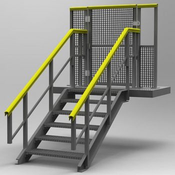 GRP Railway Systems Gated Access Steps Visual