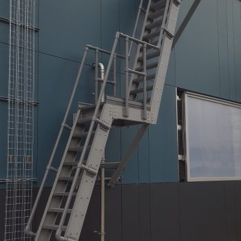 GRP Double Landing Ship Ladder with GRP Handrail
