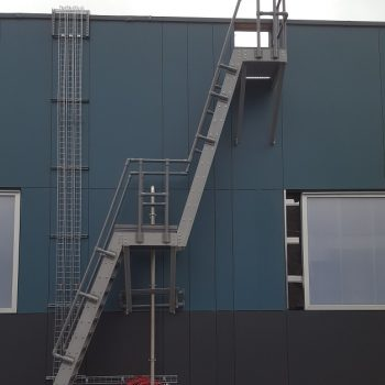 Yorkshire Schools GRP Double Landing Ship Ladder with GRP Handrail