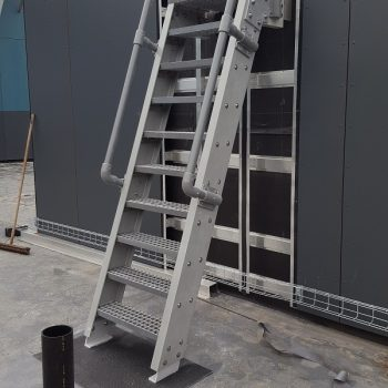 Evergrip Yorkshire Schools GRP Ship Ladder with GRP Handrail