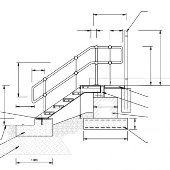 GRP Raceway Meadowhall Drawing Stairs