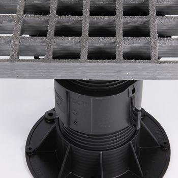 Screwjack Pedestal - Moulded Grating Pedestal Support System