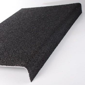 Evergrip Anti-Slip Flooring Through Colour Stair Nosing Tread Cover Black