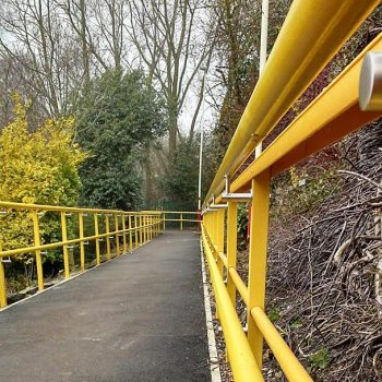 GRP Industrial Guard Rail Installation