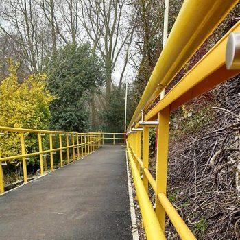 GRP Industrial Guard Rail Installation