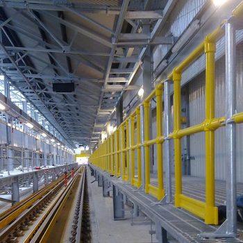 Industrial Round Handrail Installation