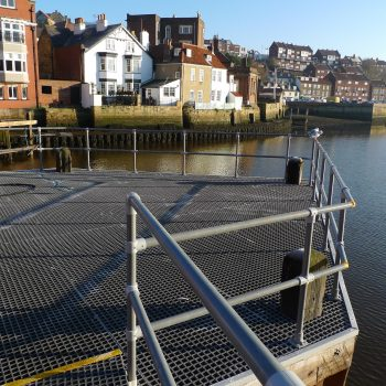 Handrail and Grating Whitby Swing Bridge