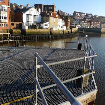 Handrail and GRP Bridge Grating Whitby Swing Bridge