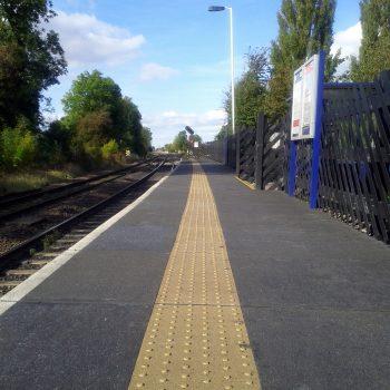Trestle platform for railway