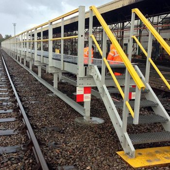 Access Platforms with Steps Installed at Railway Station