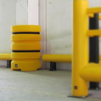 Flex Impact Industrial Safety Barriers Column Protection Installed
