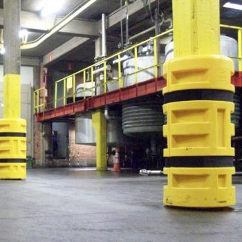 Flex Impact Industrial Safety Barriers Column Protection Installation