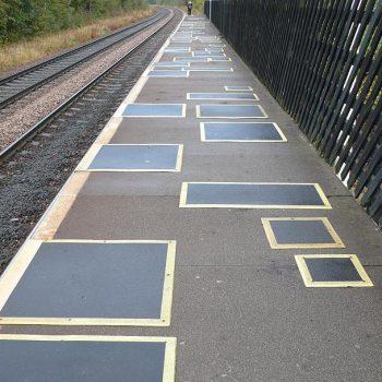 GRP Railway Stations Platform Repair Board on Station