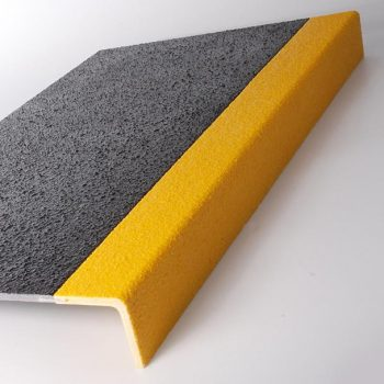 Stair Tread Cover Grey and Yellow