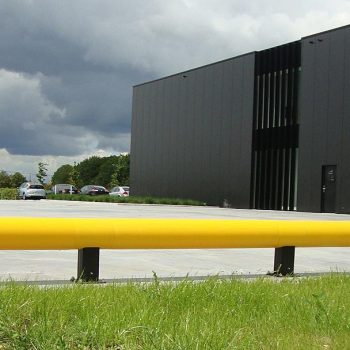 Traffic Barrier Installed Outside