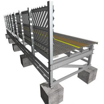GRP Trestle platform System with Fencing