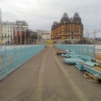 Evergrip Scarborough Spa Footbridge GRP In Progress