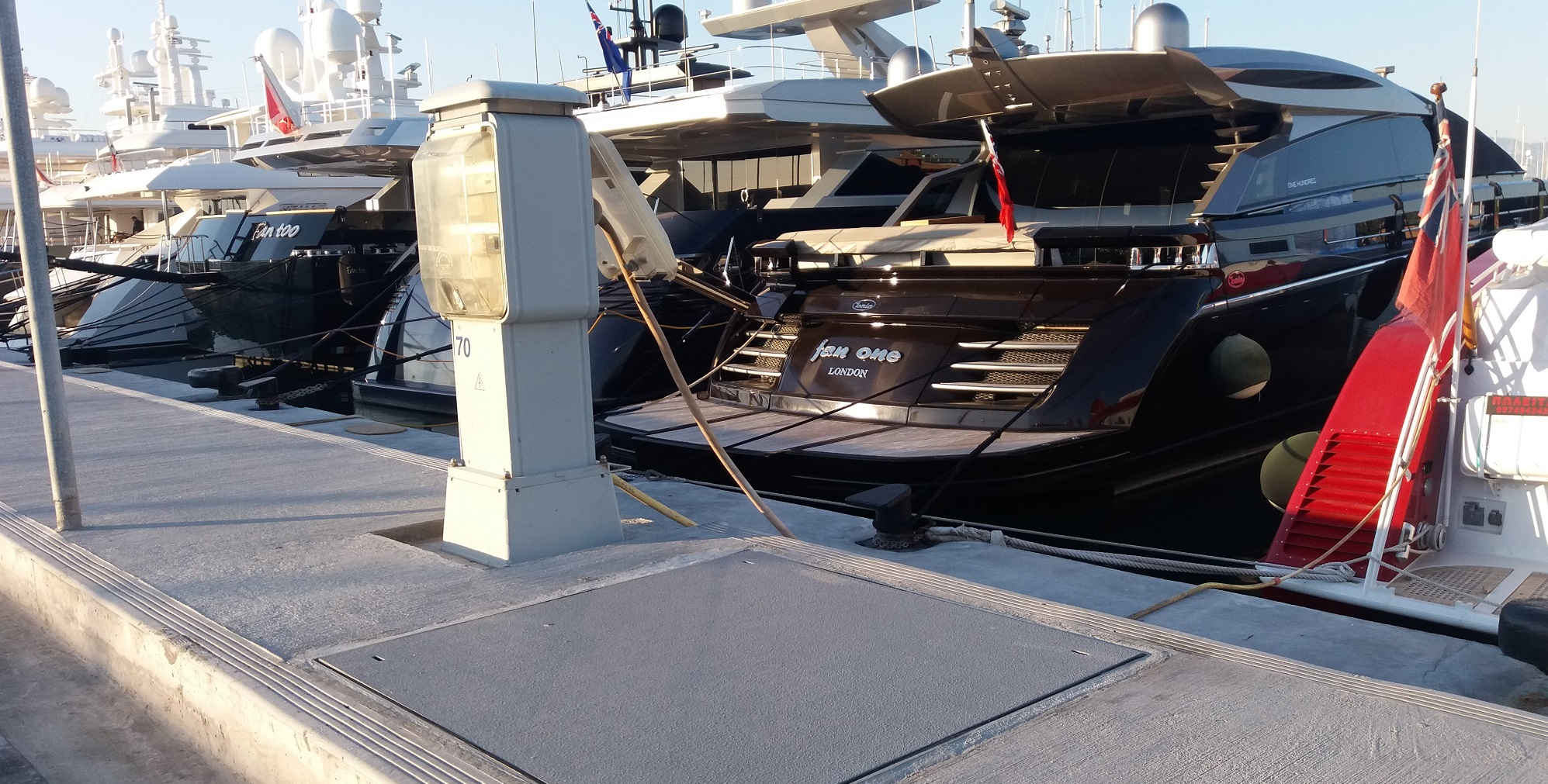 Greece GRP Service Covers Flisvos Marina
