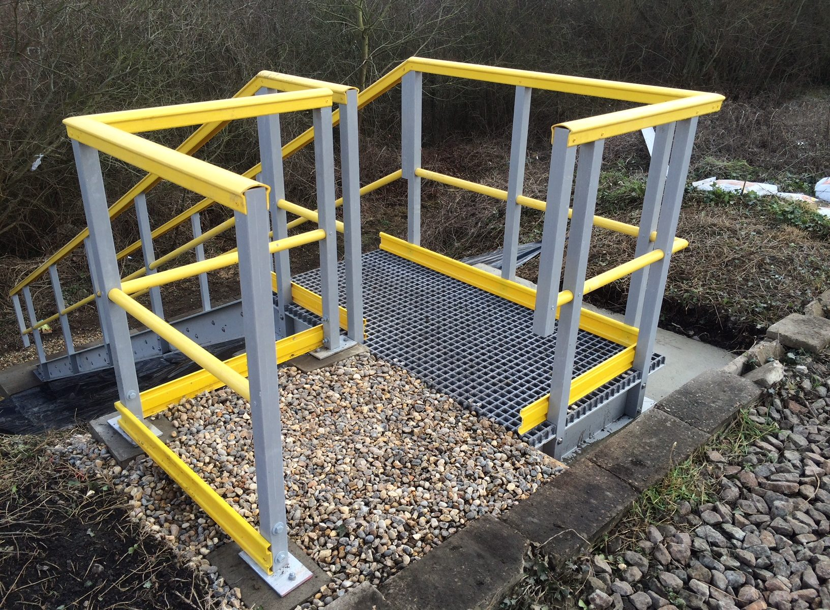 Embankment Staircases For Safe Access