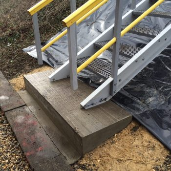 Base Of GRP Embankment Staircase