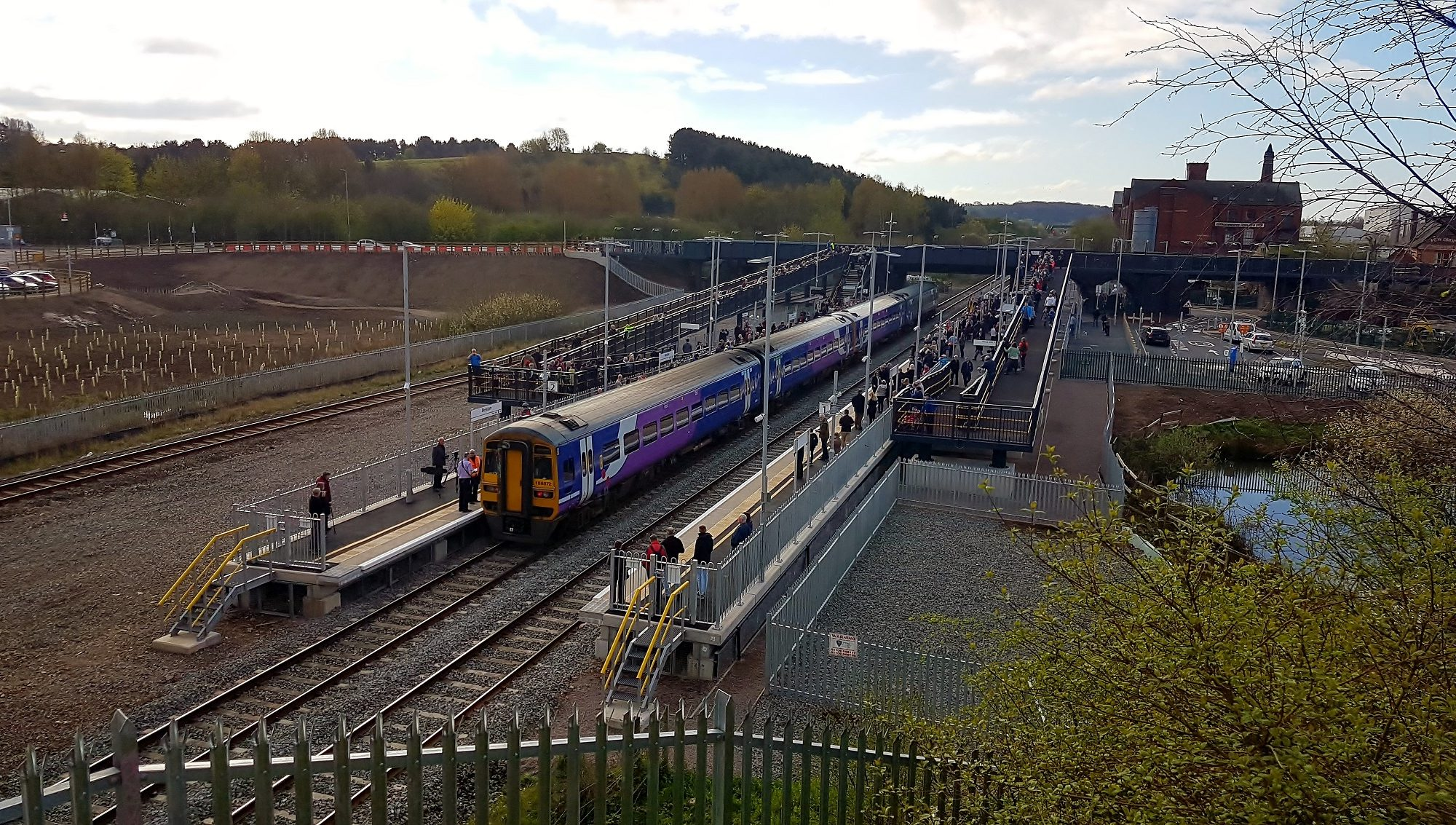 Arial view of End of Platform Stairs at llkeston Railway Station