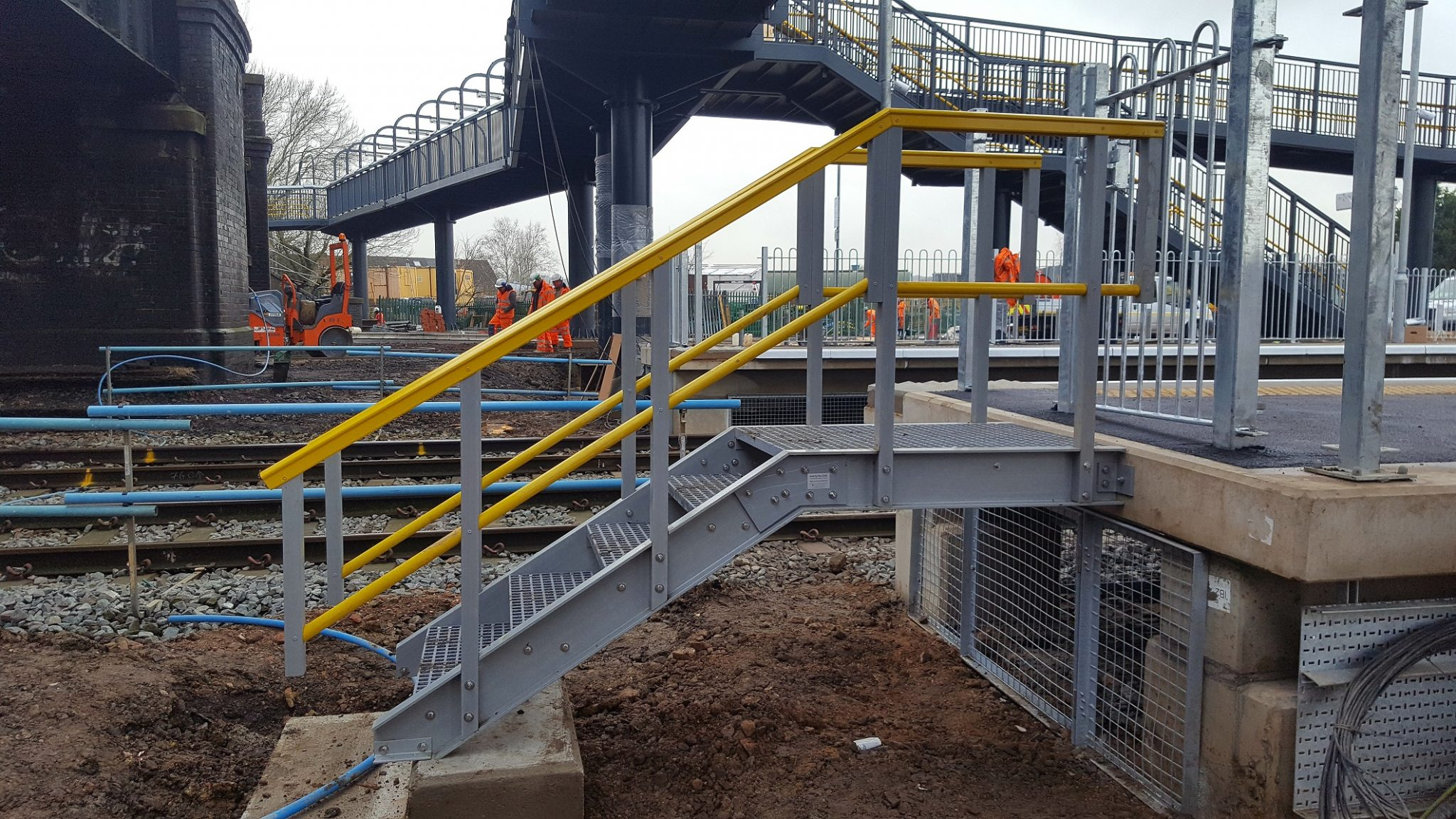 End of Platform Stairs by Evergrip - GRP Solutions