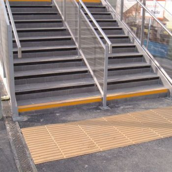 Stick On Tactile Paving Installed In A Train Station