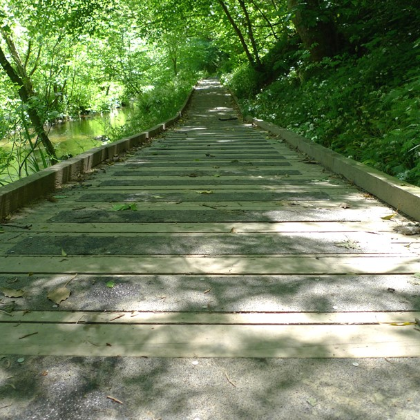 Anti-slip boardwalk - close up