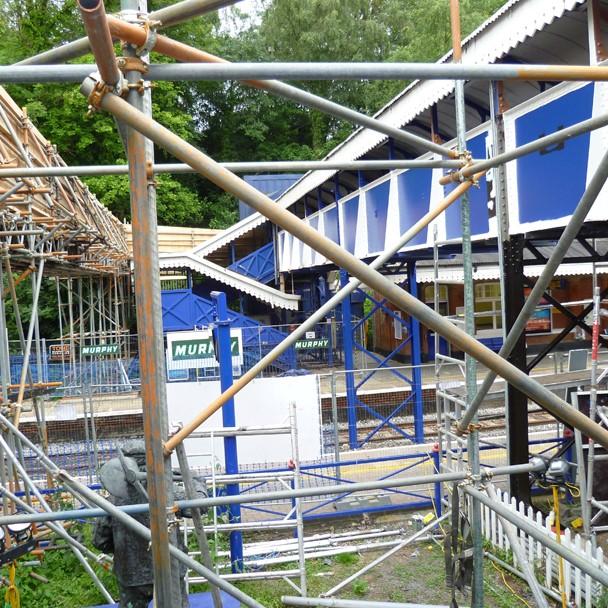 Anti-slip stairs for railway station renovation