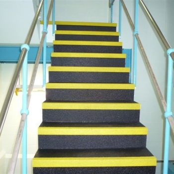 Anti slip stairs installed at Pharmaceuticals plant