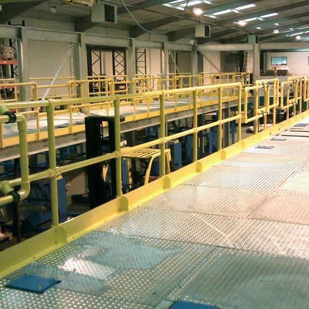 Factory guard railing