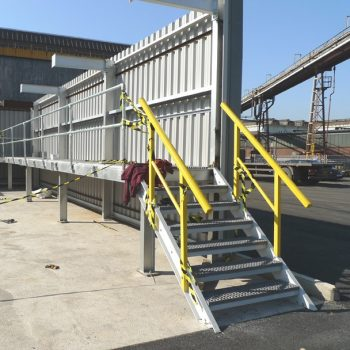 GRP access stairs at steel manufacturing plant