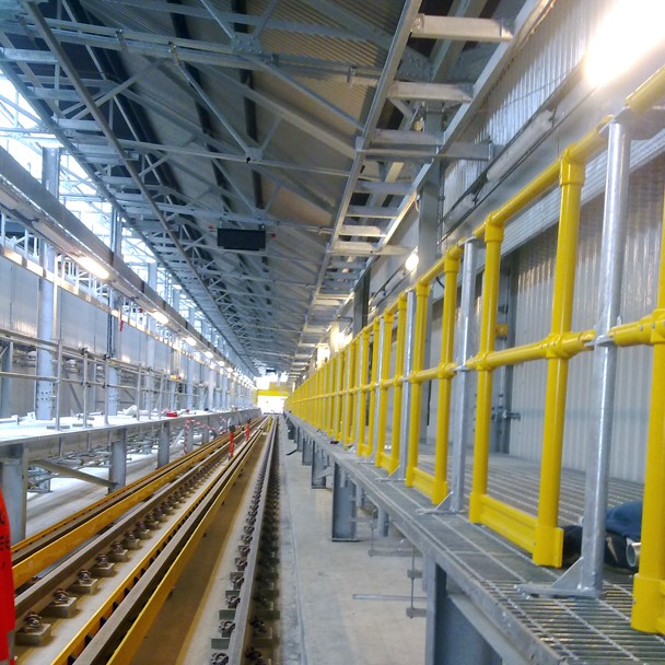 GRP removable handrail system