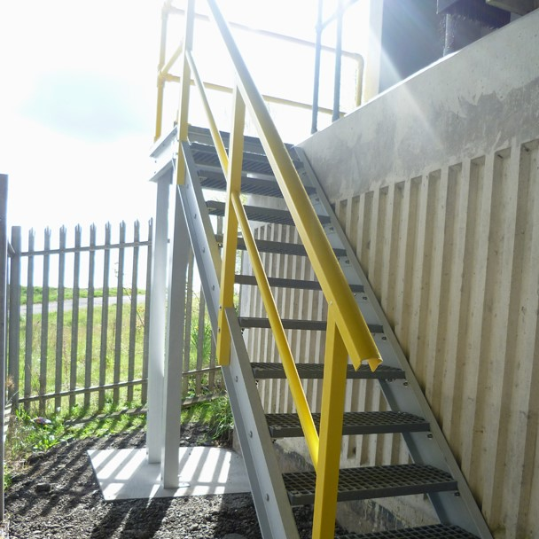 GRP stairway for road bridge maintenance access