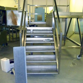 Mid installation of anti slip stairs