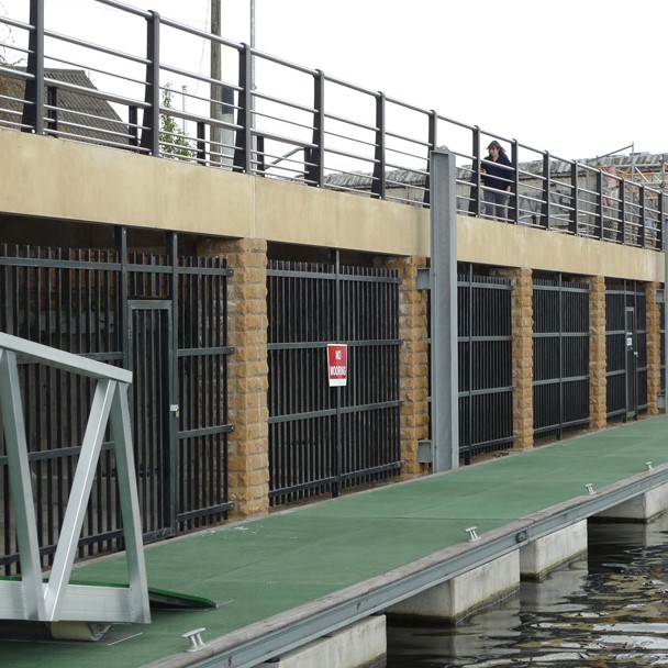 Waterfront installtions of GRP walkway