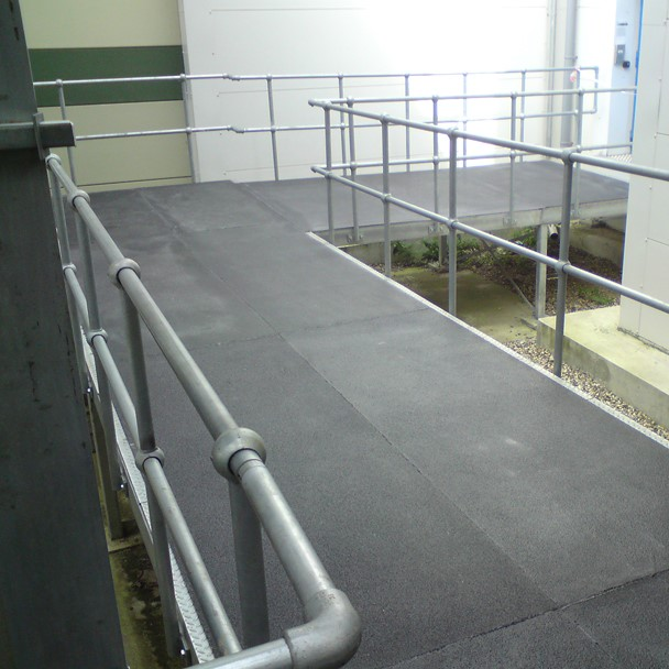 Anti slip walkways at a data centre
