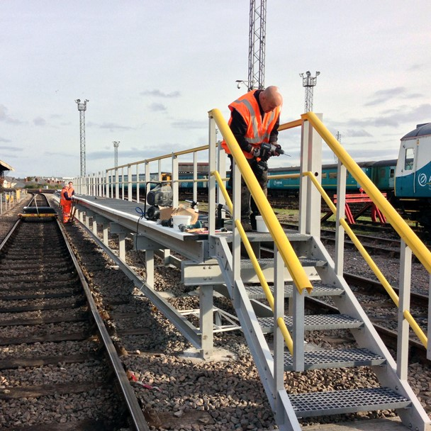 Completed railway access panel