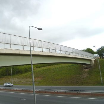 GRP in-fills for pedestrian bridge