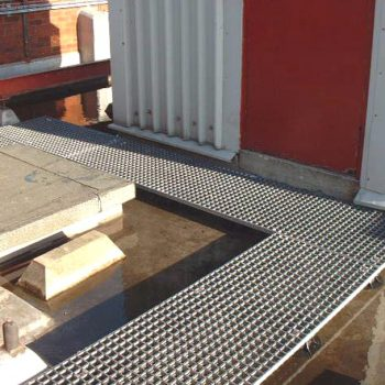 Moulded grating on factory roof