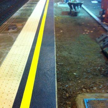Post Installation of GRP anti slip paving walkway