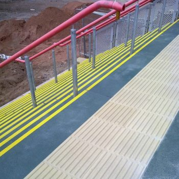 GRP Anti Slip and Tactile Paving Installation
