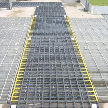 Waste Water Treatment GRP Walkway installation