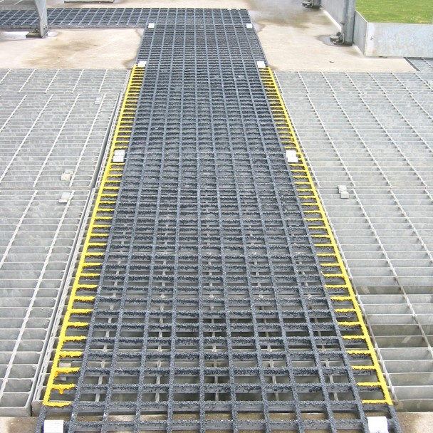 Waste Water Treatment GRP Walkway installation
