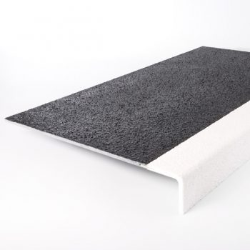 GRP Anti-slip Stair Tread Cover White Perma-Contrast Nose