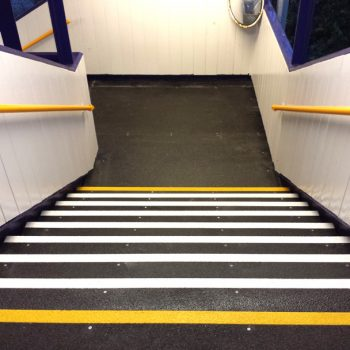 GRP Anti-slip Stair Tread Covers Perma-Contrast Nose