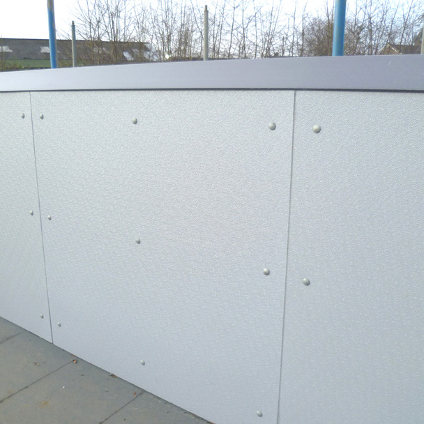 Composite anti-vandal cladding panels road bridge parapet wall