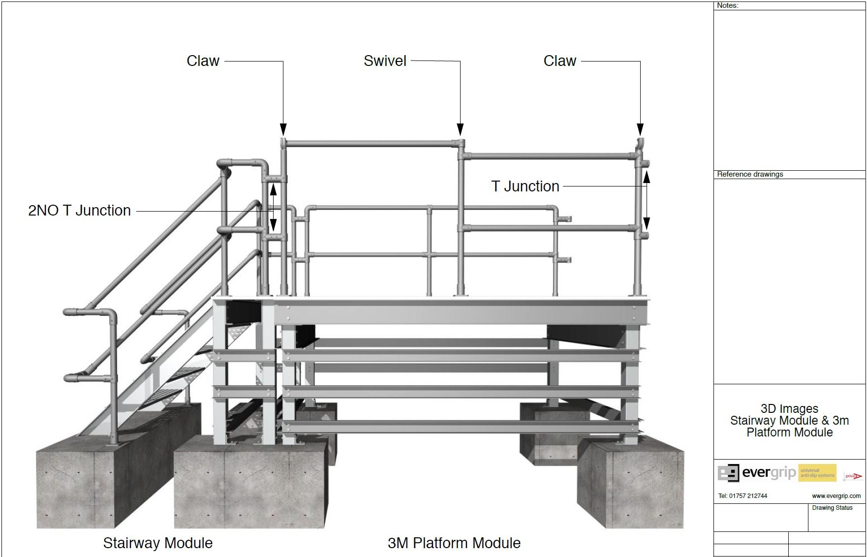 Evergrip Fibreglass Safe Access Platform Modular Design Concept