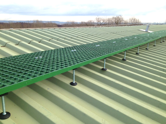 Evergrip GRP Grating - Raised Roof access walkway (by Heightsafe)